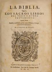 La Biblia que es los Sacros Libros del Viejo y Nuevo Testamento (1602)