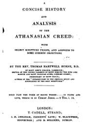 A Concise History and Analysis of the Athanasian Creed