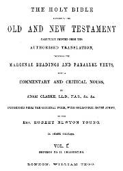 The Holy Bible Containing The Old and New Testament (I)