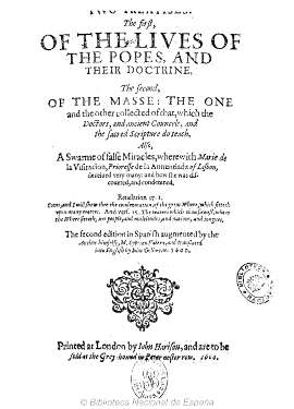 TWO TREATISES, THE FIRST, OF THE LIVES OF THE POPES, THE SECOND OF THE MASSE