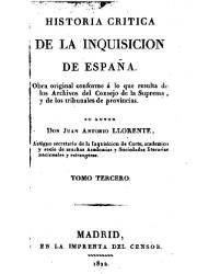 Historia Crítica de la Inquisición de España (3, 4)