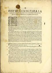 Instrucción para la Visita de los Navios en los Puertos de la Nueva España y Distritos de la Inquisición de México