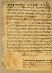 Nos los Inquisidores Apostolicos Contra la Heretica Pravedad y Apostasía, Los Charcas, el 20-09-1784