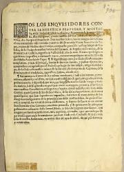 Nos los Inquisidores Apostólicos Contra la Heretica Pravedad y Apostasía, México, el 30-04-1620