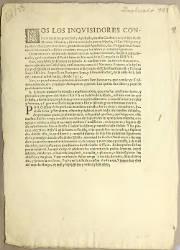 Nos los Inquisidores Contra la Heretica Pravedad y Apostasía, México, el 26-03-1626