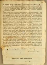 Nos los Inquisidores Apostólicos Contra la Heretica Pravedad y Apostasía, Perú, el 05-03-1768