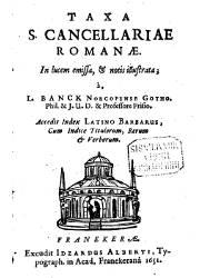 Taxa S. Cancellariae Romanae (1651)