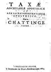 Taxae Cancellariae Apostolicae (1664)