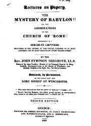 Lectures on Popery The Mystery of Babylon (1)