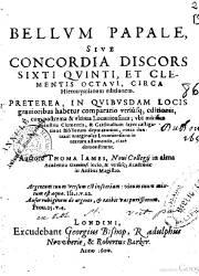 Bellum Papale Sive Concordia Siscors Sixti Quinti et Clementis Octavi (1600)