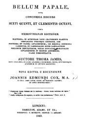 Bellum Papale Sive Concordia Siscors Sixti Quinti et Clementis Octavi (1840)