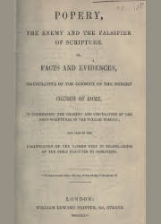 Popery the Enemy and the Falsifier of the Scripture