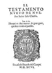El Testamento Nuevo de Nuestro Señor Jesu Christo (1596)