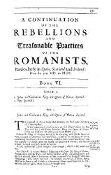 The History of Romish Treasons and Usurpations (2)