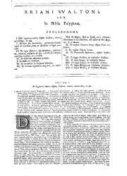 Biblia Sacra Polyglotta (I), Variant Readings
