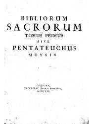 Biblia Sacra Polyglotta (II), Genesis - Leviticus
