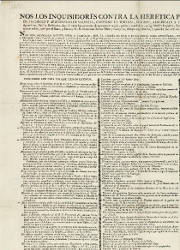 Nos los Inquisidores Contra la Heretica Pravedad y Apostasía, Valencia, el 25-07-1819