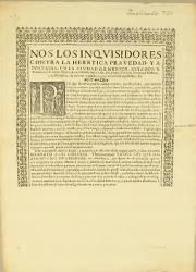 Nos los Inquisidores Contra la Heretica Pravedad y Apostasía, México, el 12-06-1621