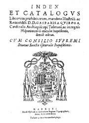 Index et Catalogus Librorum Prohibitorum (1,583)