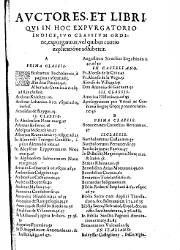 Index Librorum Prohibitorum 2, Index A-D (1,619)