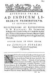 Index Librorum Prohibitorum 5, Appendix (1,619)