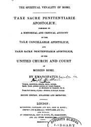 The Spiritual Venality of Rome, Taxe Sacre Penitentiarie Apostolice