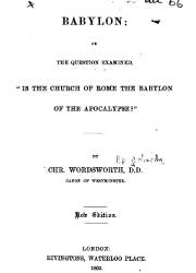 Babylon: Or the Question Examined,
