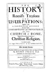 The History of Romish Treasons and Usurpations, Libros 1 al 5