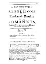 The History of Romish Treasons and Usurpations, Libros 6 al 10