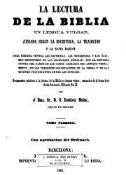 La Lectura de la Biblia en Lengua Vulga 1