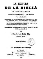 La Lectura de la Biblia en Lengua Vulga 2