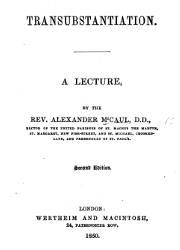 Transubstantiation A Lecture