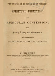 Spiritual Direction and Auricular Confession