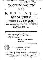 Continuación del Retrato de los Jesuitas