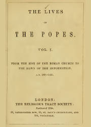 The Lives of Popes (1), The Religious Tract Society