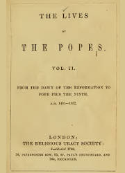 The Lives of Popes (2), The Religious Tract Society
