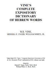 Vine's Coplete Expository Dictionary of Hebrew Words