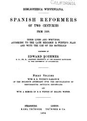 Spanish Reformers in Two Centuries from 1520 (1)