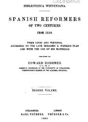 Spanish Reformers in Two Centuries from 1520 (2)
