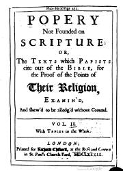 Popery Not Founded on Scripture (2)
