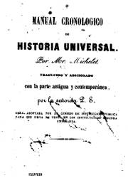 Manual Cronológico de Historia Universal