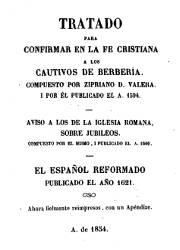 Tratado Para Confirmar en la Fe Cristiana a los Cautivos de Berberia