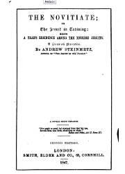 The Novitiate or the Jesuit in Training