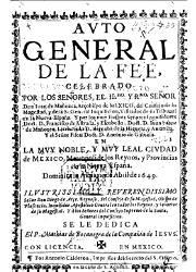Auto General de la Fe Celebrado en México (1649)