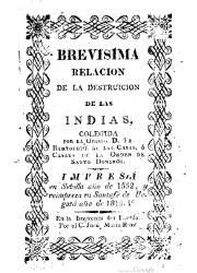 Brevisima Relación de la Destruición de las Indias