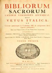 Bibliorum Sacrorum Latina Versiones Antiqua seu Vetus Italica (1)