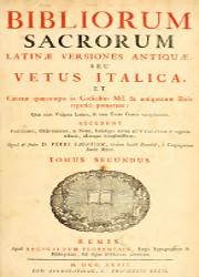 Bibliorum Sacrorum Latina Versiones Antiqua seu Vetus Italica (2)