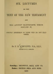Six Lectures on the Text of the New Testament